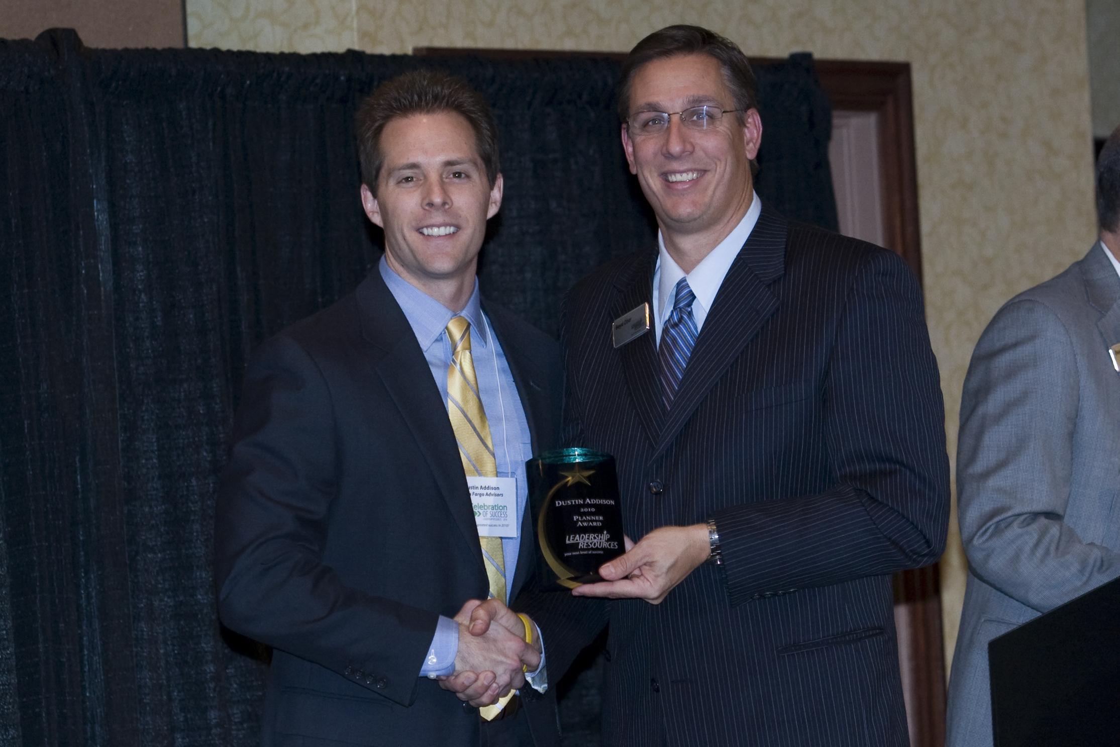 Leadership Resources Dustin Addison Award Winner The Planner 2010