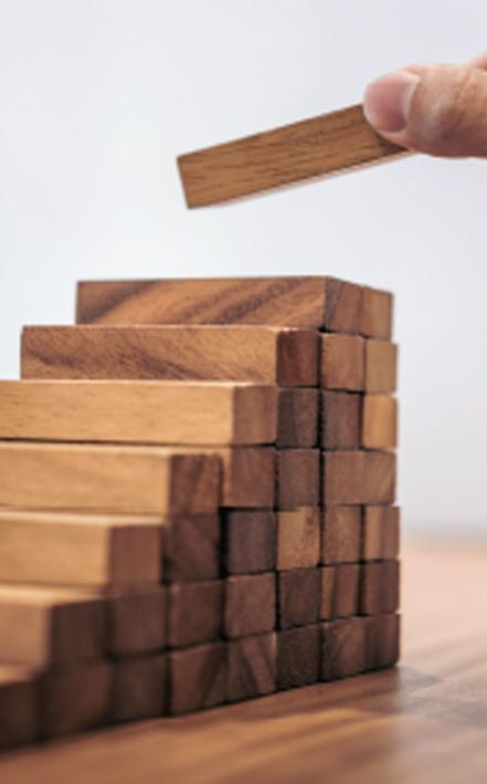 Wooden blocks step by step method