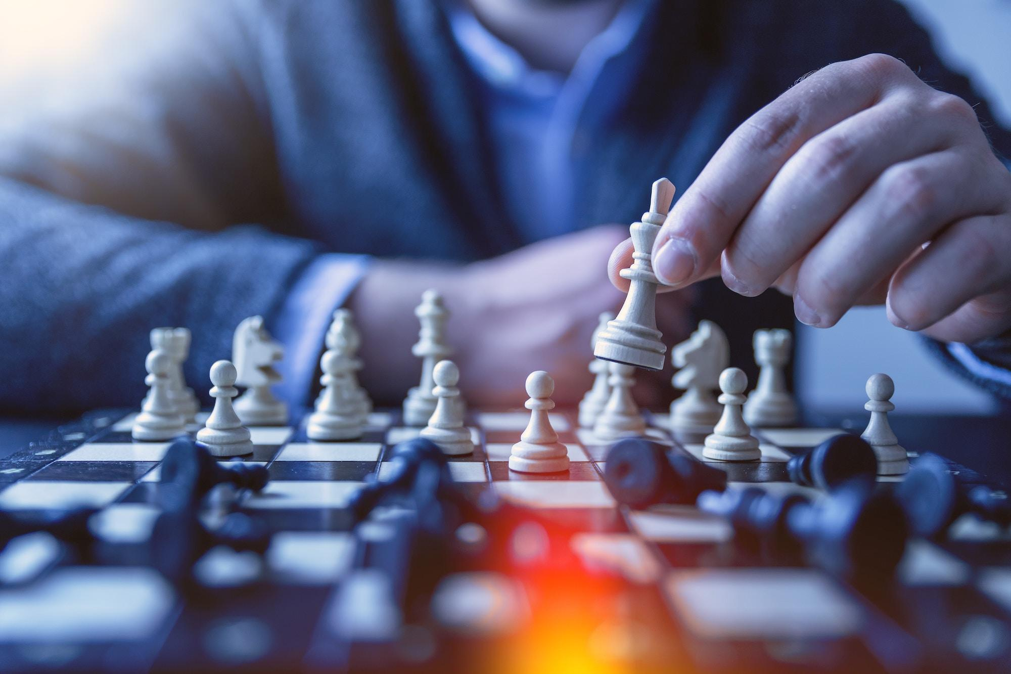 Chess move as symbol of great strategic planning and choices