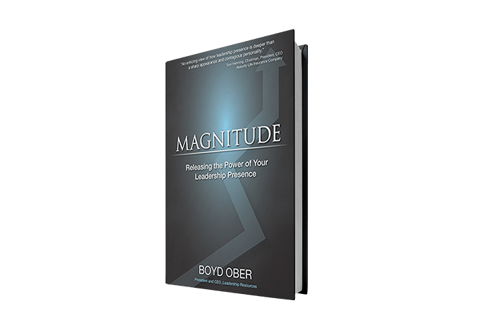 Magnitude book by Boyd Ober on business leadership