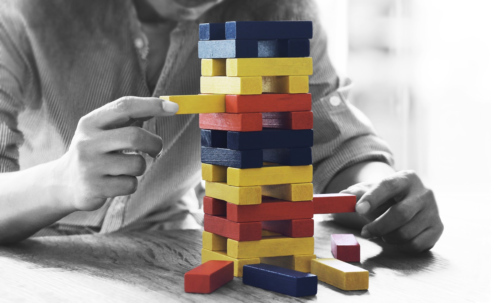 Strategic playing of Jenga