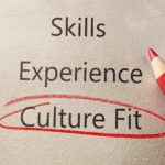 """""""Culture fit"""" circled in a job application"""