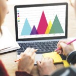 Leadership KPIs on a laptop